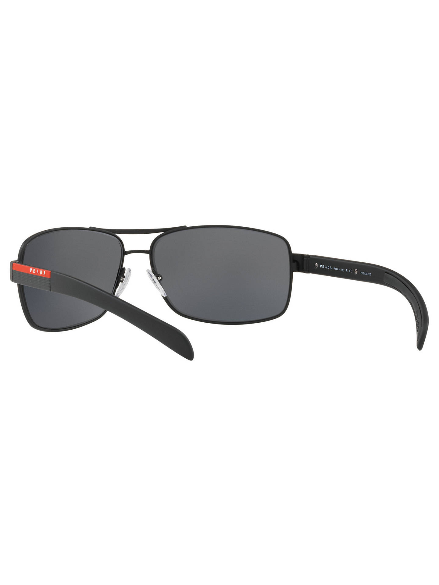 409dfddc0a8 Prada Linea Rossa PS 54IS Polarised Rectangular Sunglasses at John ...