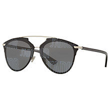 Buy Christian Dior J'Adior Polarised Oval Sunglasses, Black/Grey Online at johnlewis.com