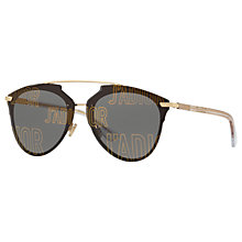 Buy Christian Dior J'Adior Oval Sunglasses, Gold/Grey Online at johnlewis.com