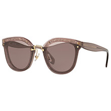 Buy Miu Miu MU 03TS Oval Sunglasses, Rose/Purple Online at johnlewis.com