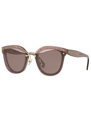 86dc3f3574 Miu Miu MU 03TS Oval Sunglasses