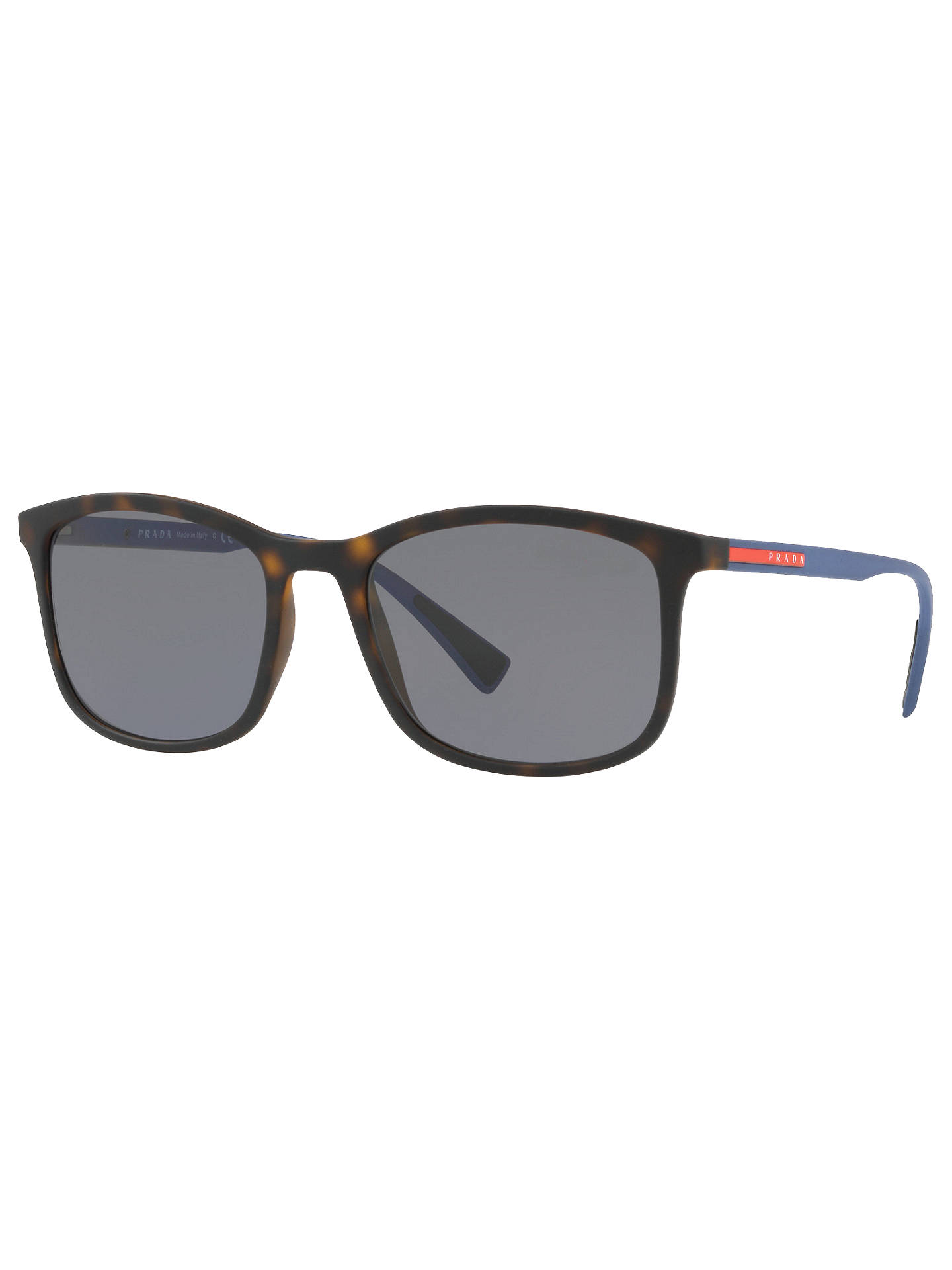 94d0dad049 Prada Linea Rossa PS 01TS Men s Polarised Rectangular Sunglasses at ...