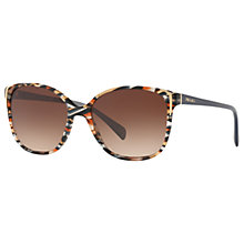 Buy Prada PR 01OS Square Sunglasses, Multi/Brown Gradient Online at johnlewis.com