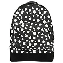 Buy Mi-Pac Irregular Spot Backpack, Black/White Online at johnlewis.com