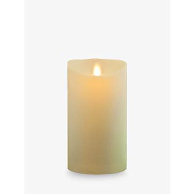 Luminara Living Flame Effect LED Pillar Candle, 18 x 8cm