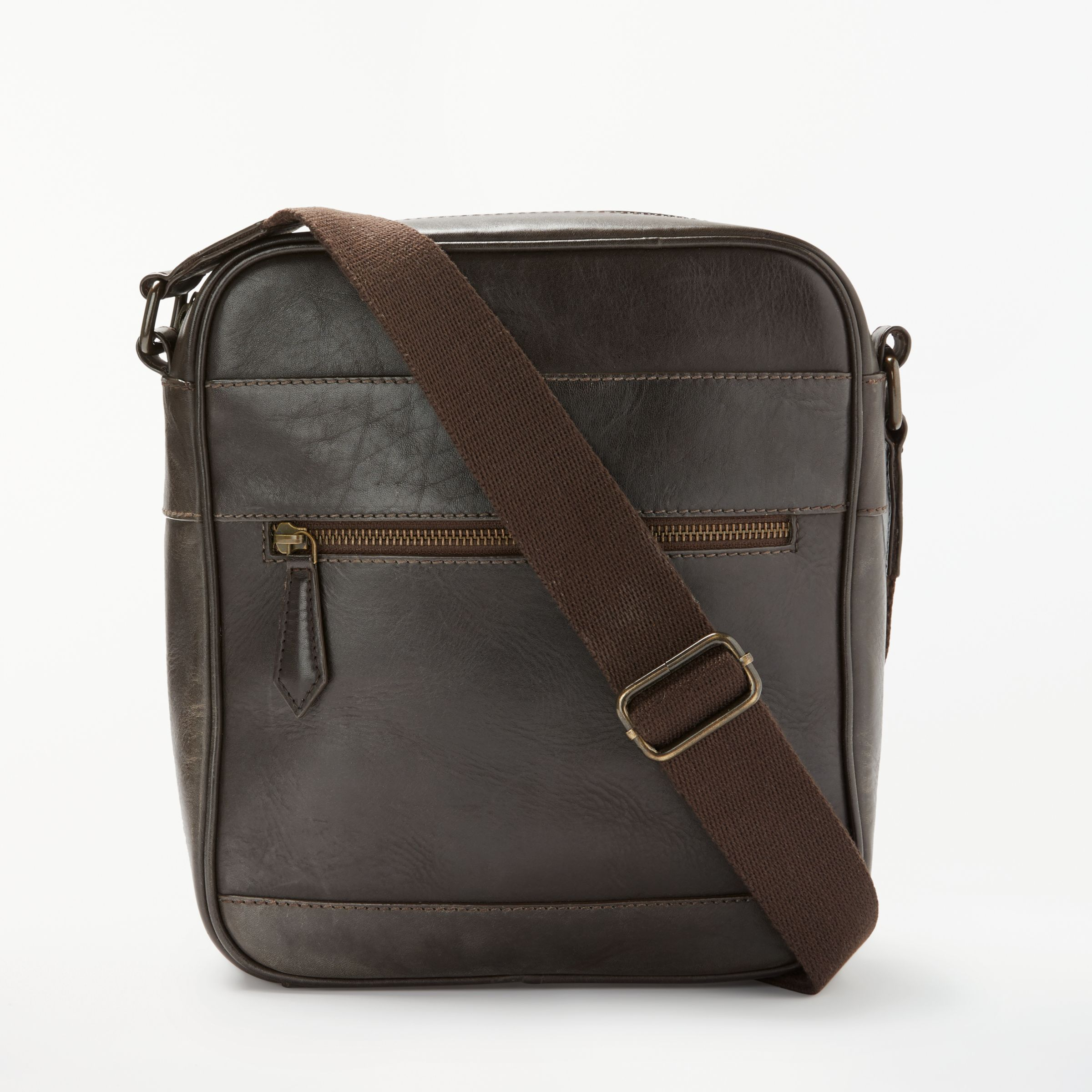 0c1c59ebfa John Lewis & Partners Milan Leather Reporter Shoulder Bag, Brown at John  Lewis & Partners