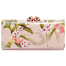 Buy Ted Baker Georgia Peach Blossom Leather Matinee Purse, Light Pink Online at johnlewis.com
