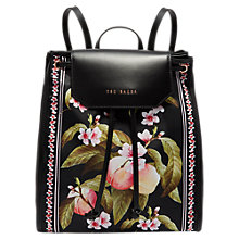 Buy Ted Baker Ruby Peach Blossom Backpack, Black Multi Online at johnlewis.com