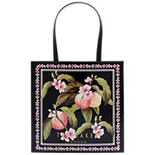 Buy Ted Baker Maecon Peach Blossom Shopper Bag, Black Online at johnlewis.com