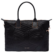 Buy Ted Baker Fit to a T Agaria Large Tote Bag, Black Online at johnlewis.com