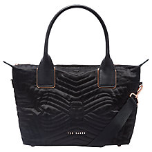 Buy Ted Baker Fit to a T Akebia Small Tote Bag, Black Online at johnlewis.com