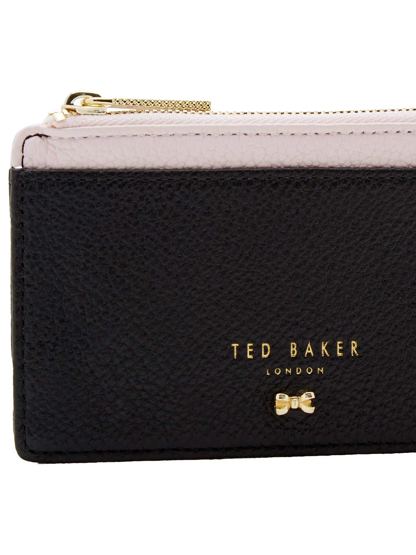 new concept ec9ad c7966 Ted Baker Alica Leather Zipped Card Holder, Black