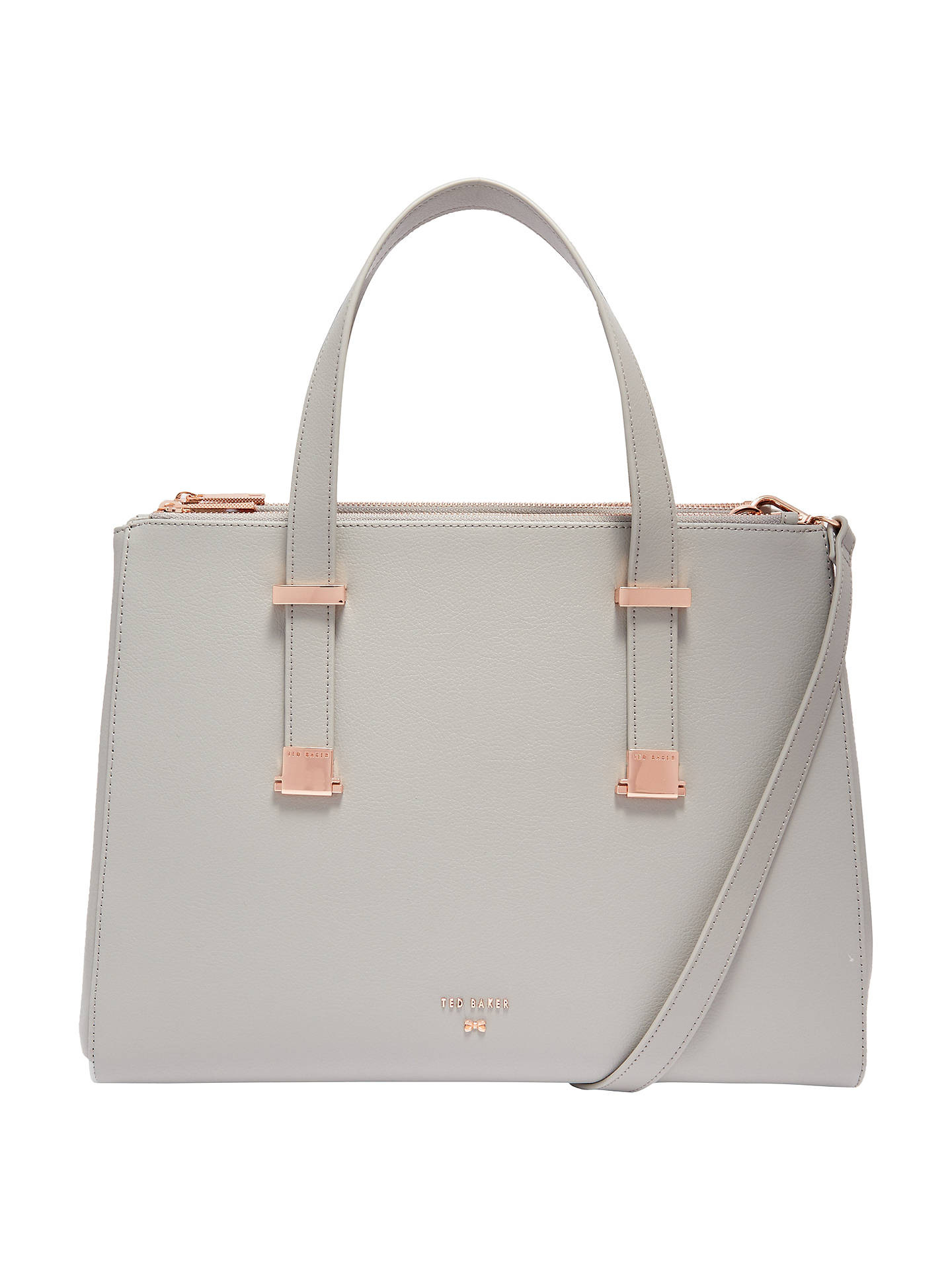 9bcb8f2e43c Buy Ted Baker Aminaa Large Leather Tote Bag, Mid Grey Online at  johnlewis.com ...