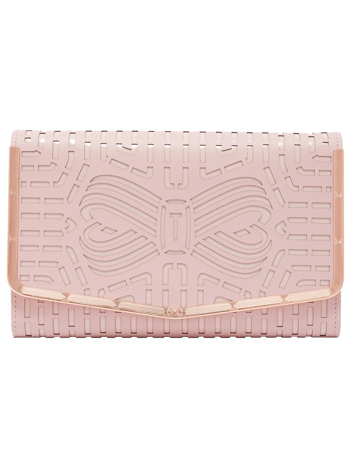 18179b4a3c9 Buy Ted Baker Bree Clutch Bag, Light Pink Online at johnlewis.com ...