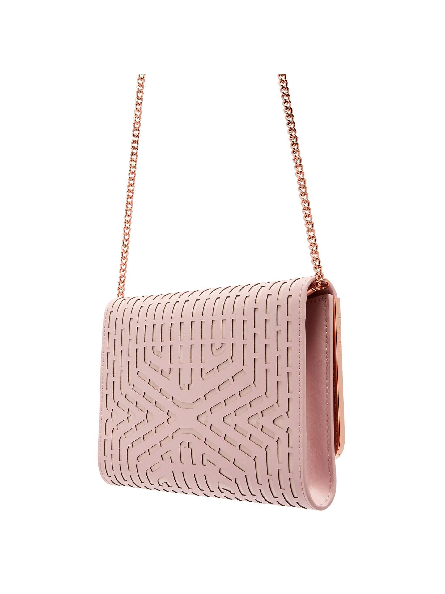 40e868b1504 ... Buy Ted Baker Bree Clutch Bag, Light Pink Online at johnlewis.com