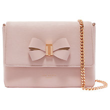 Buy Ted Baker Bowii Mini Leather Cross Body Bag, Light Pink Online at johnlewis.com