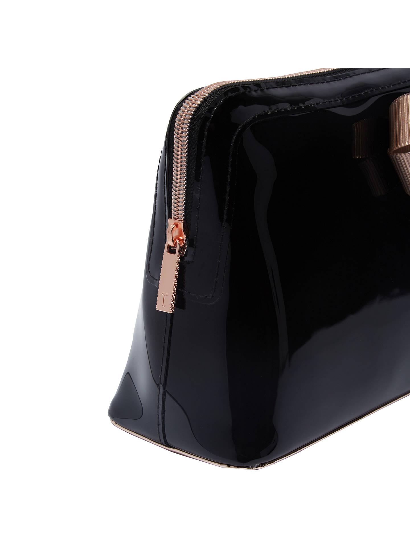 e118108178 ... Buy Ted Baker Libbert Wash Bag, Black Online at johnlewis.com
