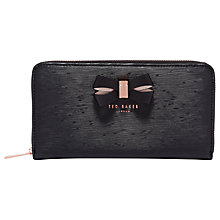 Buy Ted Baker Lizzi Leather Zipped Matinee Purse, Black Online at johnlewis.com