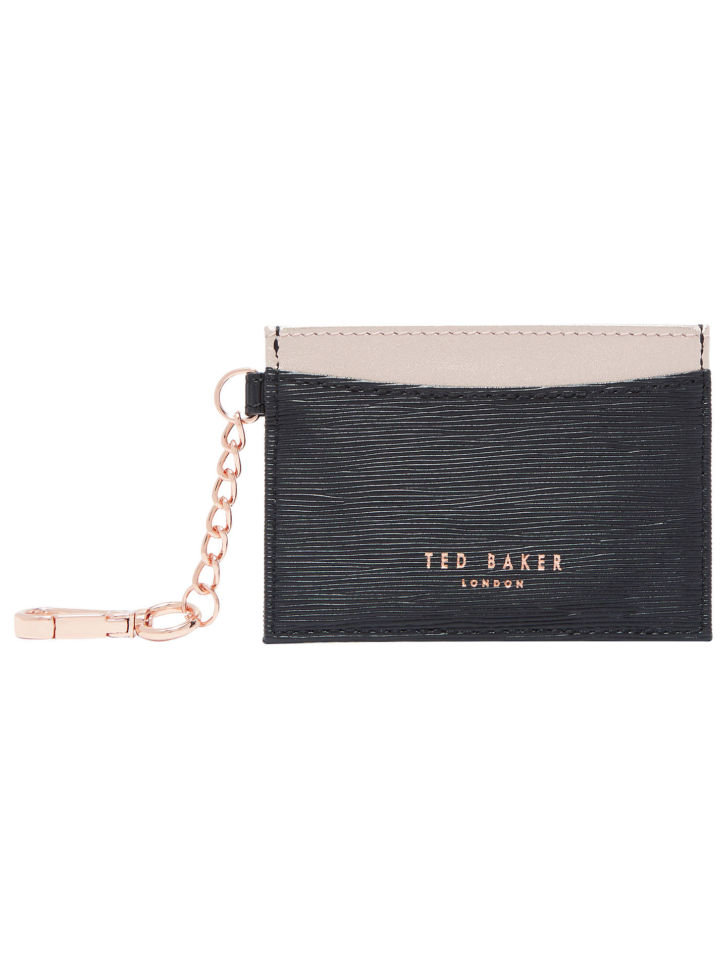 ebabe1b294a8e6 Ted Baker Meira Leather Card Holder at John Lewis   Partners
