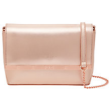 Buy Ted Baker Melisaa Leather Cross Body Bag, Rose Gold Online at johnlewis.com