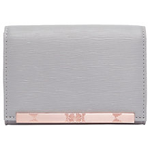 Buy Ted Baker Valenta Leather Mini Purse, Light Grey Online at johnlewis.com