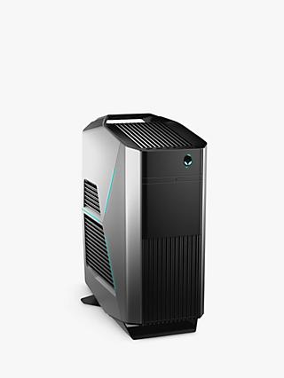 Alienware 3RJD0 Gaming PC, Intel Core i7, 16GB RAM, 2TB HDD + 32GB Intel Optane Memory, GeForce GTX 1080, Epic Silver