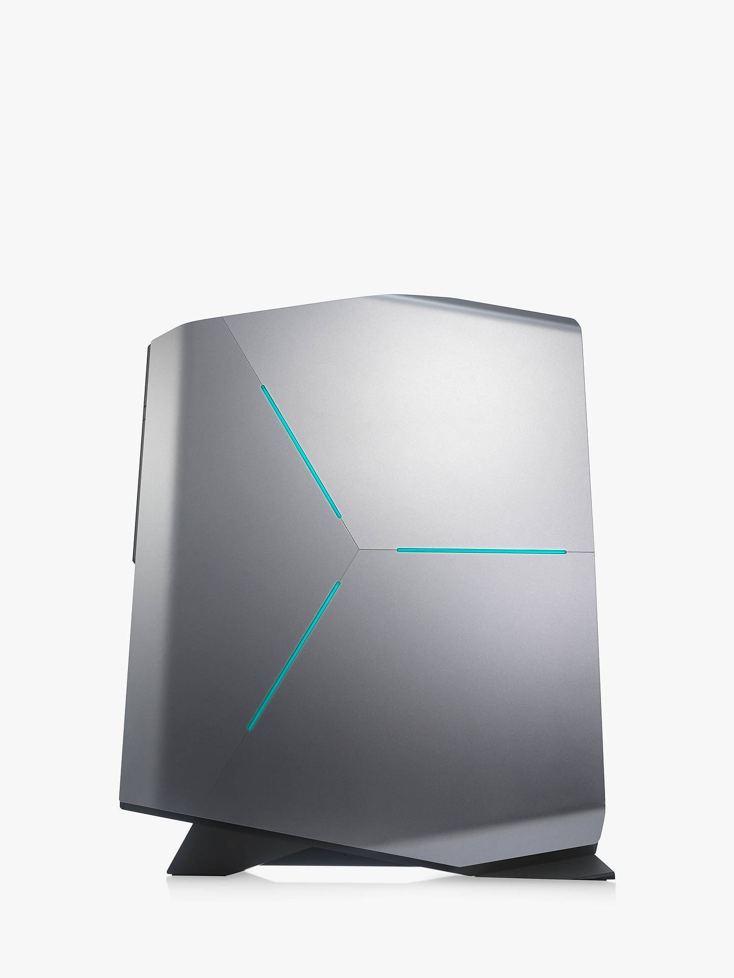 BuyAlienware 3RJD0 Gaming PC, Intel Core i7, 16GB RAM, 2TB HDD + 32GB Intel Optane Memory, GeForce GTX 1080, Epic Silver Online at johnlewis.com