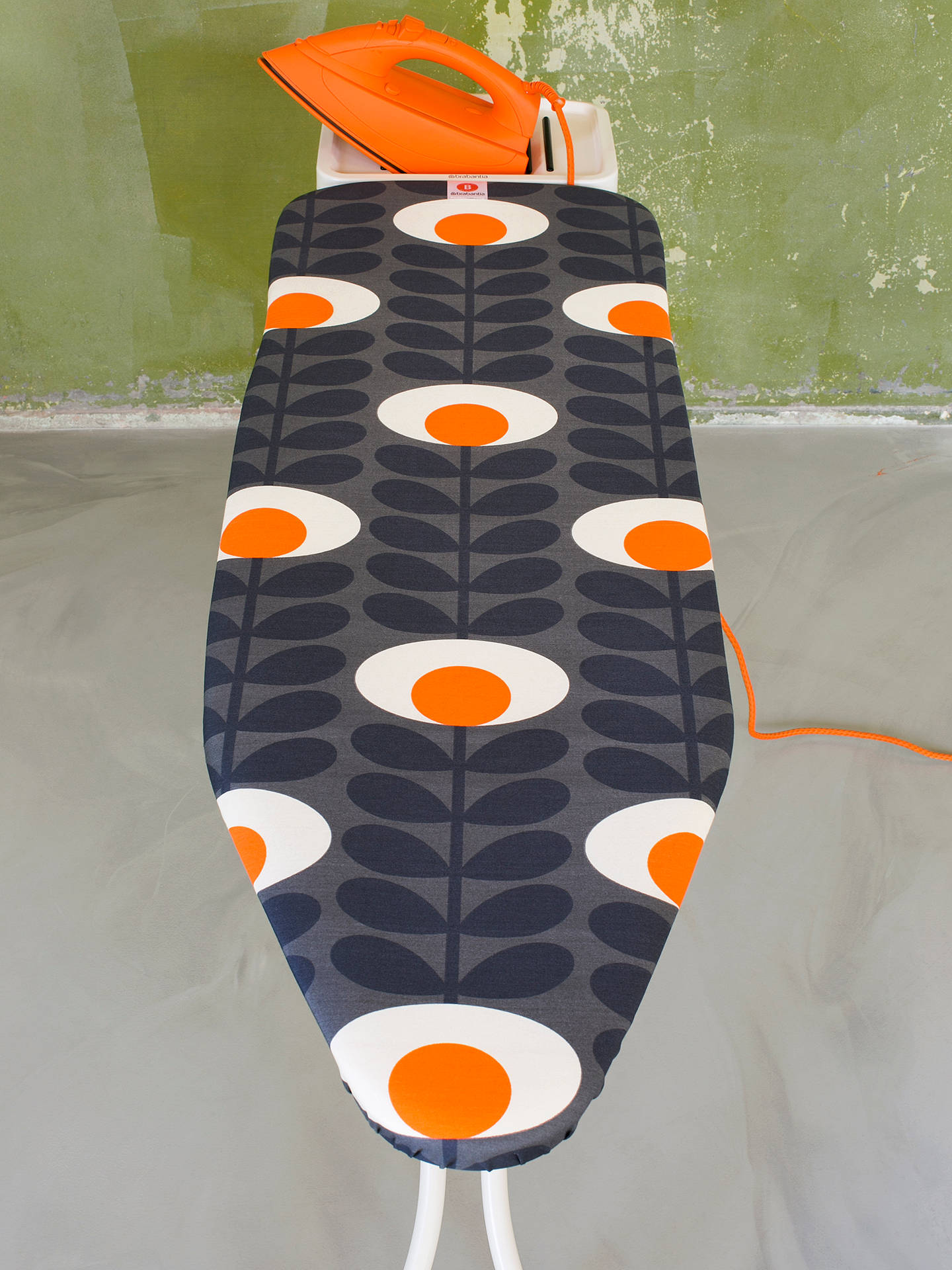 Buy Brabantia Orla Kiely Flower Oval Stem Ironing Board, L124 x W38cm Online at johnlewis.com