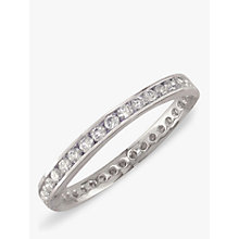 Buy EWA Platinum Diamond Full Eternity Ring Online at johnlewis.com