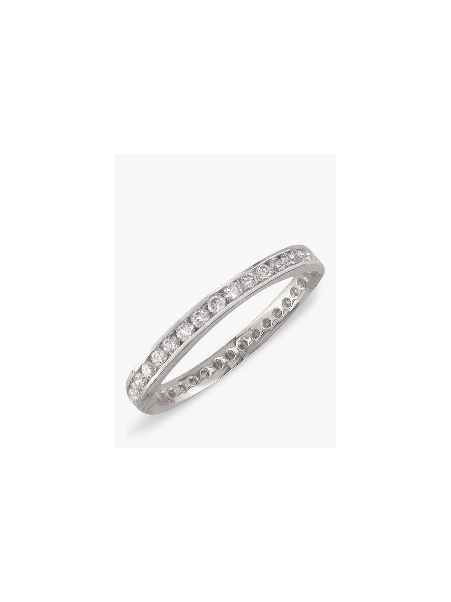 Buy E.W Adams Platinum Diamond Full Eternity Ring Online at johnlewis.com