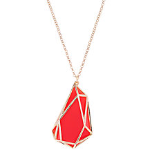 Buy Karen Millen Colour Shard Pendant Necklace Online at johnlewis.com