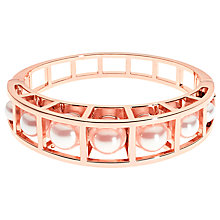 Buy Karen Millen Faux Pearl Hinge Bangle, Rose Gold Online at johnlewis.com