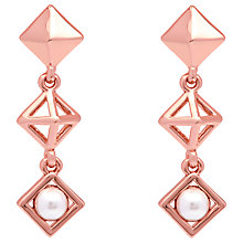 Buy Karen Millen Pyramid Faux Pearl Drop Earrings Online at johnlewis.com