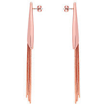 Buy Karen Millen Fringe Long Earring, Rose Gold Online at johnlewis.com