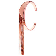 Buy Karen Millen Metallic Fringe Cuff, Rose Gold Online at johnlewis.com