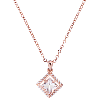 Ted Baker Pythia Pearl Frame Crystal Pendant Necklace thumbnail