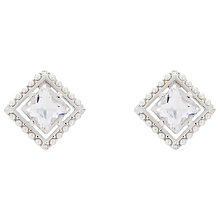 Buy Ted Baker Payge Faux Pearl Frame Swarovski Crystal Square Stud Earrings Online at johnlewis.com