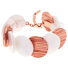 Buy Karen Millen Textured Disc Bracelet, Rose Gold/Ivory Online at johnlewis.com