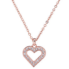Buy Ted Baker Evaniar Enchanted Heart Pendant Necklace, Rose Gold Online at johnlewis.com
