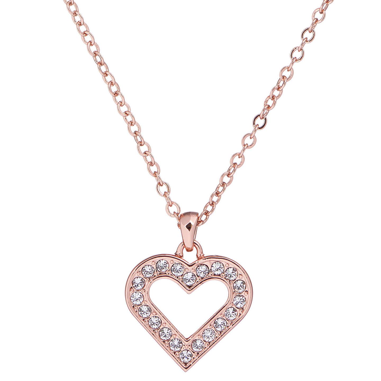 Ruby Wedding Gifts John Lewis: Ted Baker Evaniar Enchanted Heart Pendant Necklace, Rose