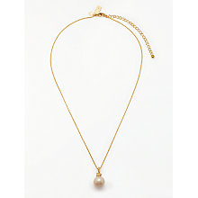 Buy kate spade new york Mini Faux Pearl Drop Pendant Necklace, Gold Online at johnlewis.com