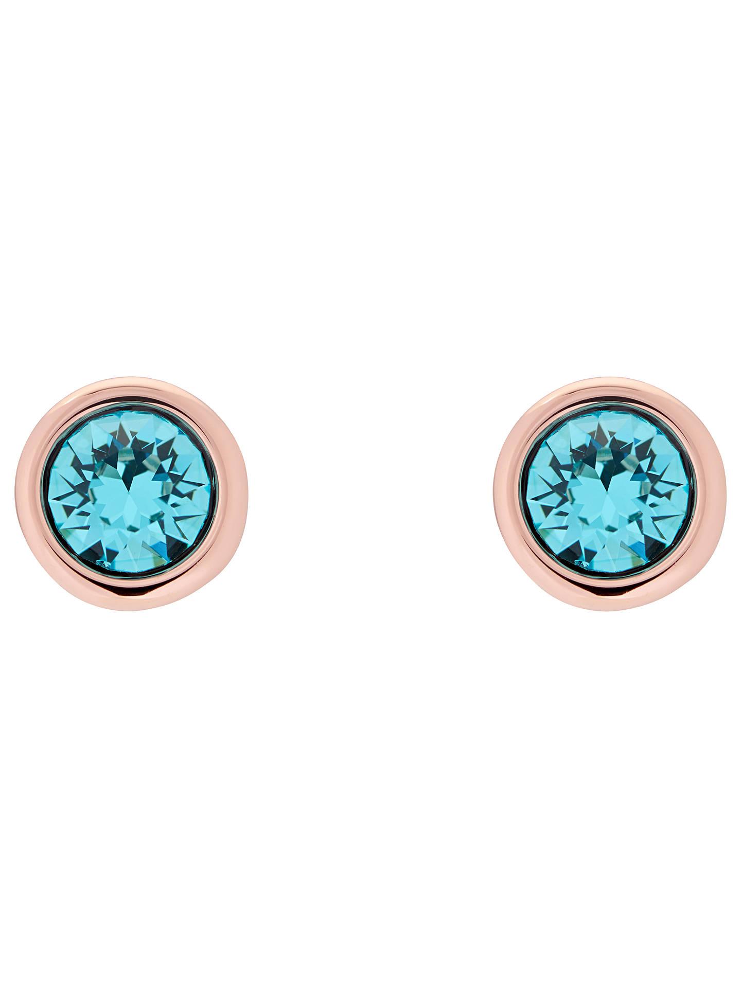 7c84562c7 Buy Ted Baker Sinaa Swarovski Crystal Stud Earrings, Rose Gold/Turquoise  Online at johnlewis ...