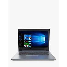 "Buy Lenovo IdeaPad 320-14IKB Laptop, Intel Core i3, 8GB, 128GB SSD, 14"", Denim Blue Online at johnlewis.com"