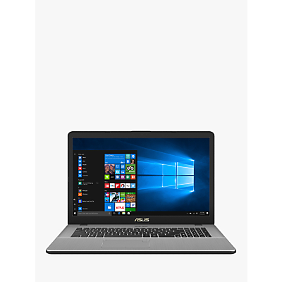 Image of ASUS VivoBook Pro N705UD-GC155T Laptop, Intel Core i7, 8GB, 1TB + 256 SSD, GeForce GTX 1050, 17.3, Grey