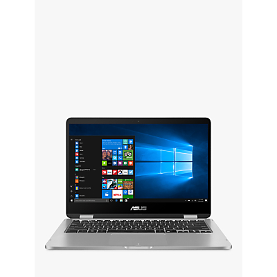 "Image of ASUS Vivobook Flip TP401CA-EC055T Laptop, Intel Core M3-7Y30, 4GB RAM, 128GB SSD, 14"", Grey"