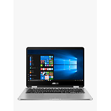 "Buy ASUS Vivobook Flip TP401CA-EC055T Laptop, Intel Core M3-7Y30, 4GB RAM, 128GB SSD, 14"", Grey Online at johnlewis.com"