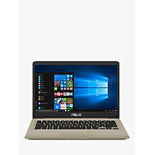 "Buy ASUS Vivobook S410UA-EB046T Laptop, Intel Core i5, 8GB, 256GB SSD, 14"", Gold Online at johnlewis.com"