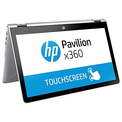 "Image of HP Pavilion x360 Convertible Laptop, Intel Pentium, 4GB, 1TB, 15.6"" HD Screen, Silver"