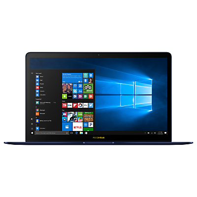 Image of ASUS Zenbook 3 Deluxe UX490UAR-BE087T Laptop, Intel Core i7, 8GB, 512GB SSD, 14, Royal Blue