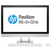 "Buy HP Pavilion 27-r079na All-in-One PC, Intel Core i5, 16GB, 2TB HDD, 27"", AMD Radeon 530, White Online at johnlewis.com"